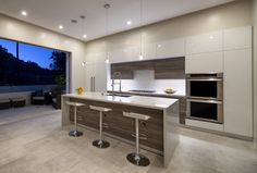 Fleetwood Doors | Modern Kitchen at Knobhill in Sherman Oaks By Boswell Construction #buildboswell