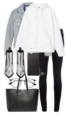 """""""Untitled #2969"""" by elenaday ❤ liked on Polyvore featuring Closed, Acne Studios, Ray-Ban and Yves Saint Laurent"""