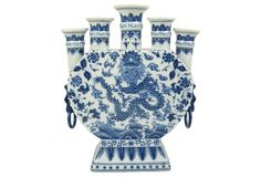 Check out this item at One Kings Lane! Fiery Dragon, Blue And White China, Vases Decor, Flower Vases, White Porcelain, Decorative Vases, White Flowers, 5 D, Helpful Hints