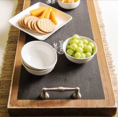 DIY party tray with chalkboard paint