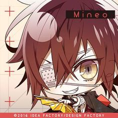 Otome Game: Collar x Malice, Mineo (chibi) Anime Chibi, Manga Art, Cartoon Art, Romantic, Gaming, Drawings, Kawaii Stuff, Cute, Anime Boys