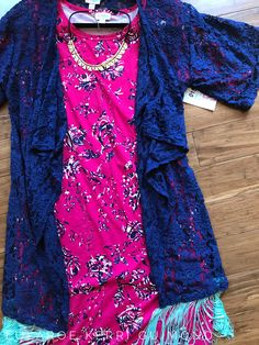 Stunning lularoe outfit featuring the Julia dress and Monroe Kimono. Gorgeous floral and lace combo. Shop more looks like this here! https://m.facebook.com/groups/1380641358911229