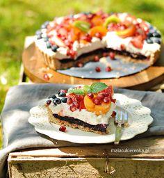 Ciasto z musem owocowym i kremem jogurtowym, bez glutenu, bez cukru Ethnic Recipes, Food, Essen, Meals, Yemek, Eten