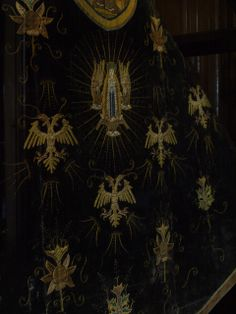 Needlework of Katherine of Aragón, Coughton Court, Warwickshire.    Coughton Court