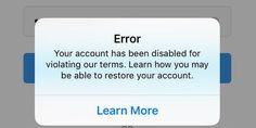Error en Instagram eliminó varias cuentas