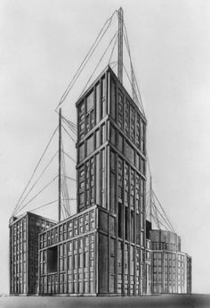 The Vesnin brothers' unrealized proposal for the Palace of Labor (1923)