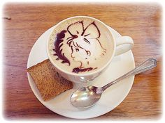 two awesome things combine to make them even more awesome. How can you  go wrong with Coffee and Ghibli?