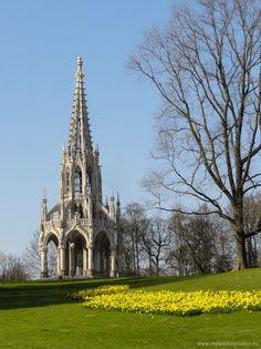 Memorial of Leopold 1st in Laeken garden, Brussels, Belgium