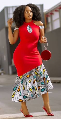 African print design dress by laviye Women Fashion - Women's style: Patterns of sustainability Best African Dresses, Latest African Fashion Dresses, African Print Fashion, African Attire, Modern African Fashion, African Dress Designs, Modern African Print Dresses, African Design, Traditional African Clothing