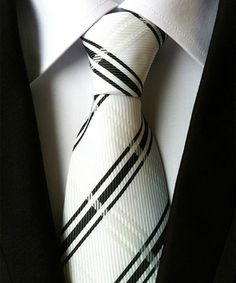 Look at this White & Black Plaid Silk Necktie on #zulily today!