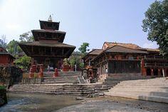 Gokarna Mahadeva temple and ghats over Bagmati river, Nepal
