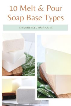 10 Must-Try Melt and Pour Soap Bases - get a detailed look at all 10 and which we love the best! melt and pour soap types l easy soap recipes Soap Making Recipes, Soap Recipes, Soap Supplies, Soap Base, Home Made Soap, Diy Projects, Homemade, Easy, Homemade Dish Soap