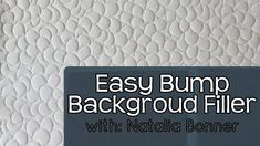 Easy Bump Background Filler- With Natalia Bonner Quilting Rulers, Longarm Quilting, Free Motion Quilting, Quilting Tips, Machine Quilting Patterns, Quilt Patterns, Rainbow Background, Pattern Blocks, Bump
