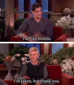 Ellen and Calvin Klein model Matt Terry