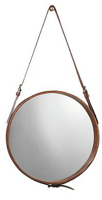 Cute buckle mirror, would love to do this for a DIY project!