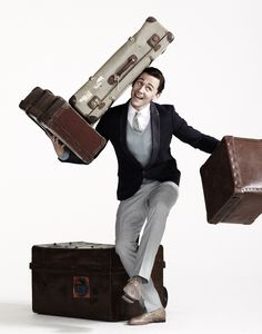 Tom Hiddleston and Suitcases