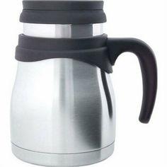 Timolino 17 oz. @Victoria Brennan Clough II Vacuum Travel Mug - Wide Base