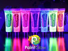 Special Effects Makeup Green And Purple, Pink Blue, Orange Pink, Uv Face Paint, Halloween Dance, Special Effects Makeup, Paint Set, Red Bull, Face And Body