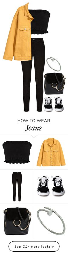 """Untitled #870"" by ayalikeschicken on Polyvore featuring Paige Denim, Chloé and Cartier"
