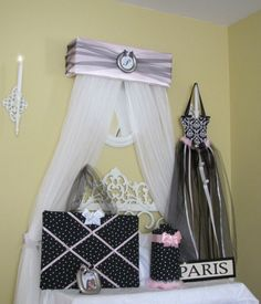 Complete Bedroom 6 pc set  Bed Canopy Crown by SoZoeyBoutique, $99.99