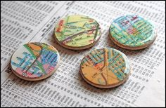 diy map projects | DIY-map-magnets