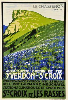 Yverdon - St. Croix, Chemin de Fer, Les Rasses. 1941