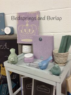 """Textures and Crackle created by Bedsprings and Burlap using Paint Couture!(TM) products. Lavender color is called """"Blessings"""""""