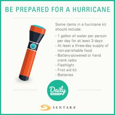 Hurricane kit to-do list Hurricane Kit, Hand Crank Radio, Non Perishable Foods, Daily Health Tips, First Aid Kit, Improve Yourself, At Least, Survival First Aid Kit, Diy First Aid Kit