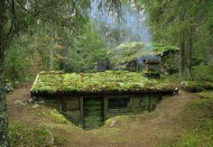 dug out Earth Sheltered Homes, Underground Homes, Underground Living, Survival Shelter, Earth Homes, Natural Building, Green Building, Earthship, Cabins In The Woods