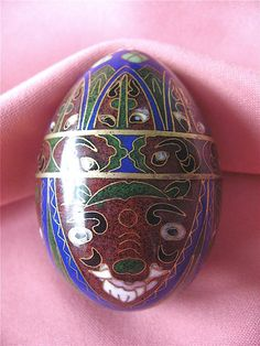 ON SALE was 13.99 Collectible Cloisonne Egg by DelicateCreations
