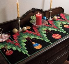 Love this runner ~ @Amber Caywood This would be perfect for a Christmas quilt, and it wouldn't take a lot of time!