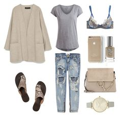 """Cardi +sandals"" by fashionlandscape ❤ liked on Polyvore"