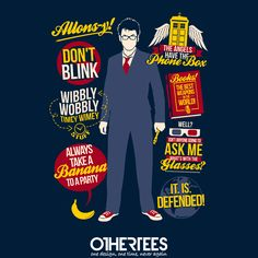 """""""10th Quotes"""" by TomTrager Shirt, Sweatshirt, Hoodie and Tank Top on sale until 15 July on othertees.com Pin it for a chance at a FREE TEE! #doctorwho #10thdoctor"""