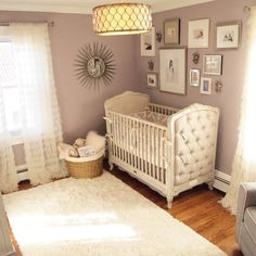 """2,260 Likes, 38 Comments - Project Nursery (@projectnursery) on Instagram: """"Glam for DAYSSSSSS in this super-chic purple nursery from #lucaslullabyinteriors. LINK IN PROFILE…"""""""