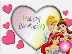 Birthday Wishes Disney Style ~ Happy birthday princess princesas disney niñas happy birthday