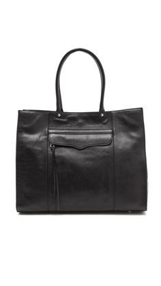 Rebecca Minkoff  MAB Tote  $295.00    Leather: Cowhide.  Weight: 39oz / 1.10kg.  Imported, China.    MEASUREMENTS  Height: 13in / 33cm  Length: 17in / 43cm  Depth: 6in / 15cm  Strap drop: 8in / 20cm