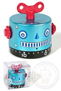 Buy Robot Timer Blue Wind Up 60 Minutes at TinToyArcade.com