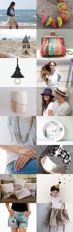Casual summer fashion - Beach style  by OJ Finkel on Etsy--Pinned with TreasuryPin.com