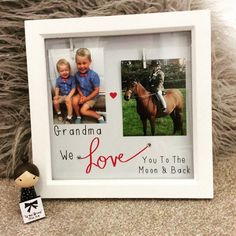 Grandma/Grandad I love you shadow box frames perfect gift from children to grandparents