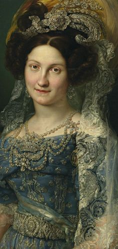 Maria Christina von Neapel-Sizilien (1806–1878) by Vicente López (1830), detail