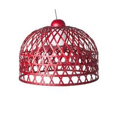 Moooi Emperor Suspension Lamp by Neri & Hu in Black and Red Bamboo Rattan Ceiling Pendant, Pendant Lamp, Pendant Lighting, Ceiling Lights, Moooi Lighting, Light Pendant, Ceiling Fixtures, Ceiling Lamp, Compact Fluorescent Bulbs