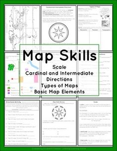 Worksheet Types Of Maps Worksheets worksheets and maps on pinterest this package contains a variety of handouts lesson idea an