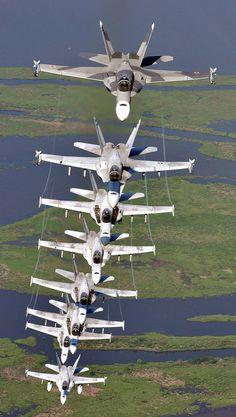 A Stack of F/A-18 Super Hornets....