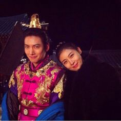Ha Ji Won & Ji Chang Wook, Empress Ki, Backstage