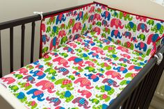 ADORABLE BABY GIRL ELEPHANTS COT 4 PIECE SET  BEDDING BALE