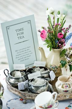 """Tea-time wishes: """"May you always have tea beside the fire, laughter to cheer you, those you love near you and all your heart might desire."""""""