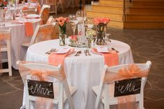 Цветовое оформление персиковой свадьбы