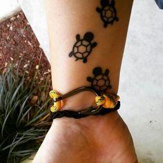Little tiny turtle tattoos