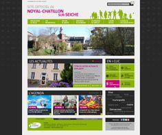 #Webdesign : Création de la charte graphique du site Internet de la Ville de Noyal Chatillon sur Seiche (35)  http://www.ville-noyal-chatillon.fr