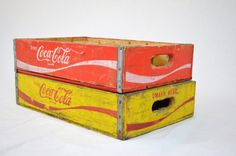 Open happiness - 2009 Coca Cola Slogan      PLEASE NOTE: this listing is now only for the RED crate - the yellow one sold! Thanks!    ABOUT THE